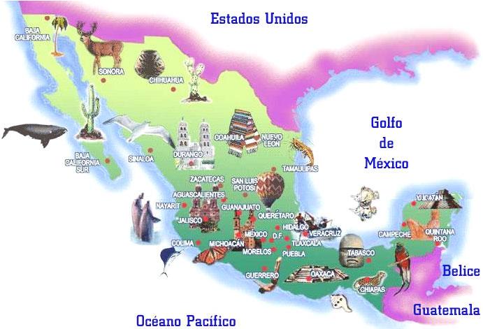Mapa De Mexicojpg Pixels Mexico Pinterest Buckets - Mapa de mexico